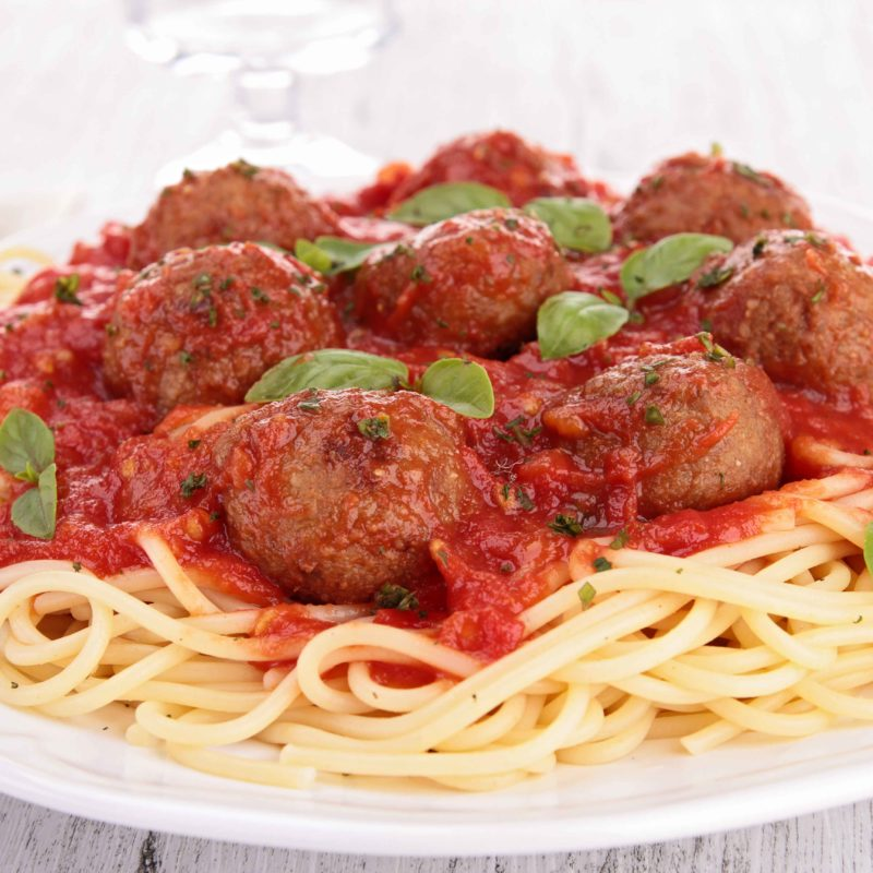 Steve Schriripa Uncle Steve's Certified Paleo Pasta Sauces meatballs and spaghetti