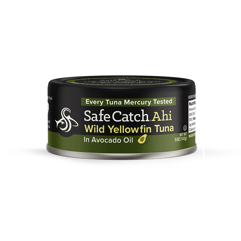 Wild Ahi Yellowfin Tuna in Avocado Oil - Safe Catch - Certified Paleo, KETO Certified by the Paleo Foundation