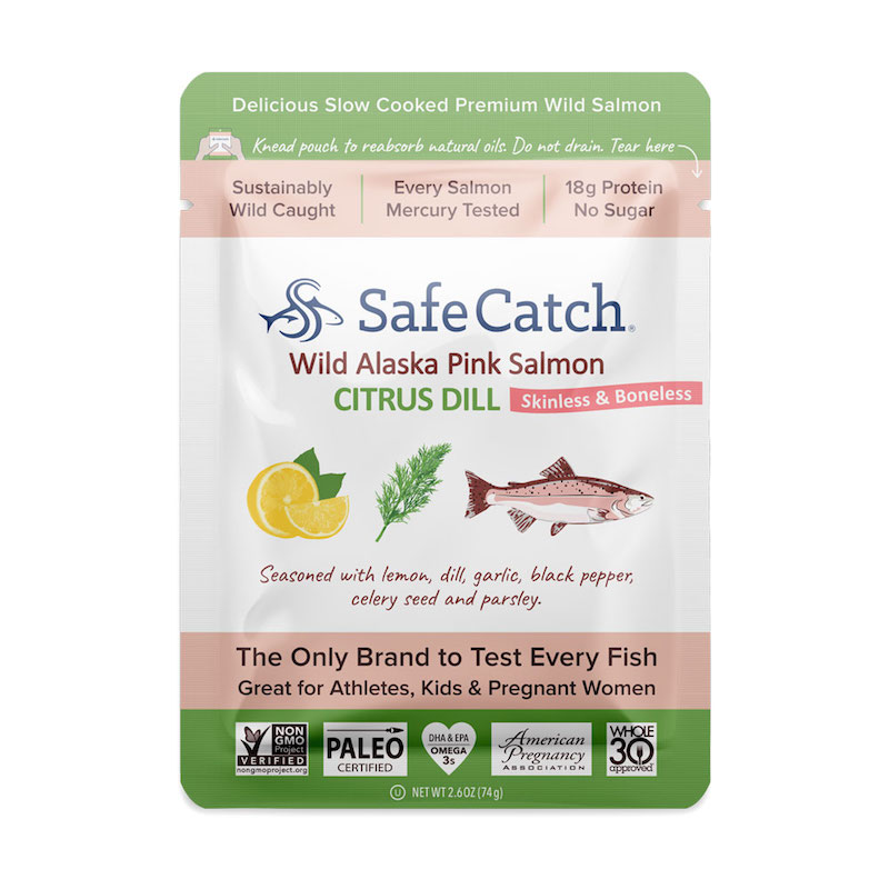 Wild Alaska Pink Salmon - Citrus Dill pouch - Safe Catch - Certified Paleo, KETO Certified by the Paleo Foundation