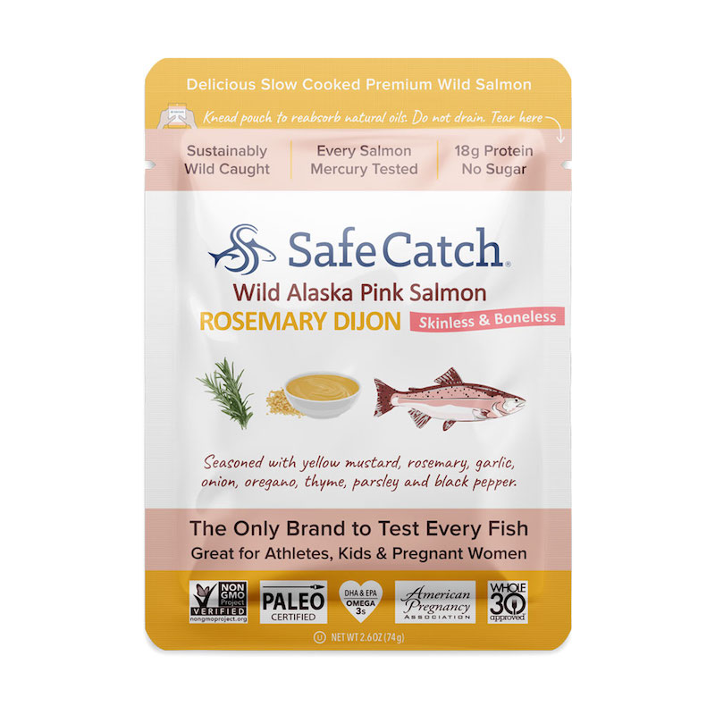 Wild Alaska Pink Salmon - Rosemary Dijon pouch - Safe Catch - Certified Paleo, KETO Certified by the Paleo Foundation