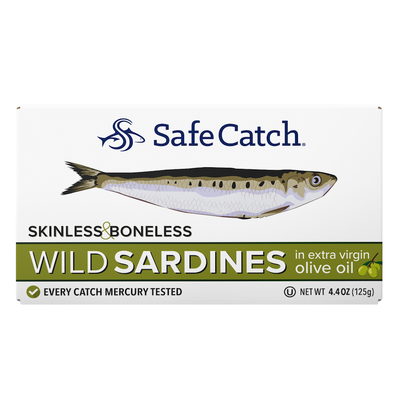 Wild Sardines in Extra Virgin Olive Oil - Safe Catch - Certified Paleo, KETO Certified by the Paleo Foundation