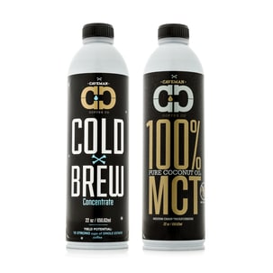 caveman coffee co single origin certified paleo cold brew and 100% MCT