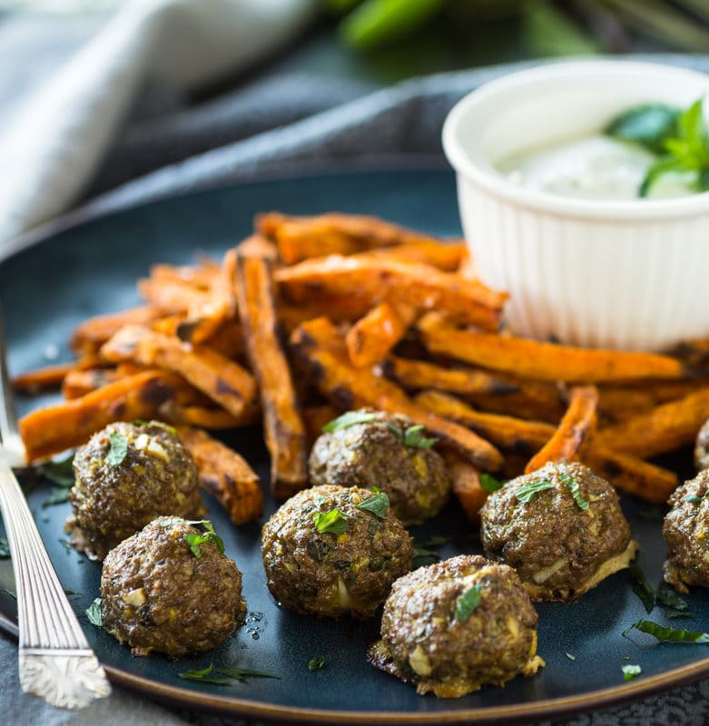 Sweet Potatoes and Mushroom Meatballs - At Paleo Powder Seasonings, we exist to provide the everyday home cook flavorful, one-stop, healthy seasoning blends. All of our products are Certified Paleo, Whole30 Approved and GO TEXAN. #paleo #certifiedpaleo #aipfriendly