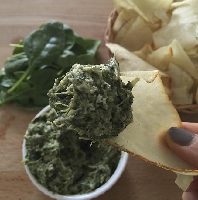 paleo spinach dip artisan tropic