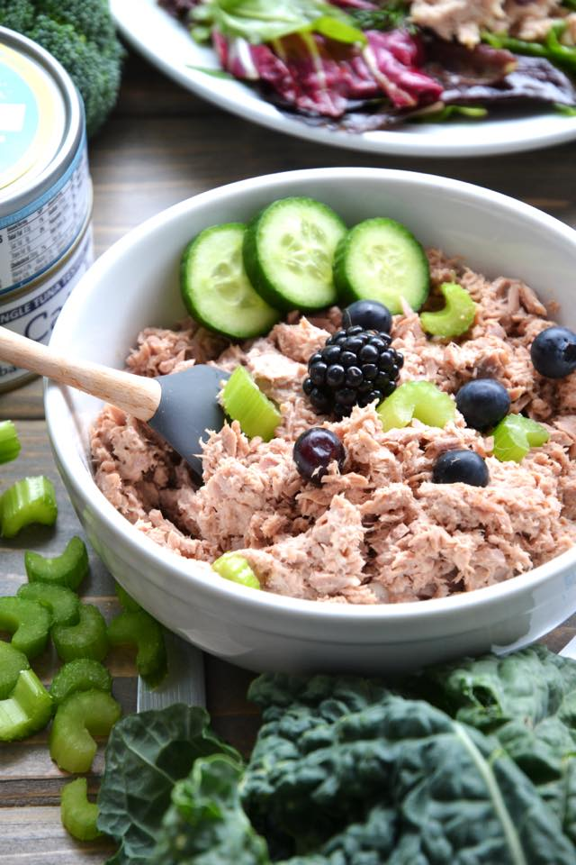 Tuna Salad - Here at Safe Catch, we believe that purity matters. Purity in our oceans, lakes, and rivers, and purity in our food supply, the way nature designed it. We believe that pure foods should be attainable to everybody, from all walks of life, which is why we make tuna without fillers or additives. Our tuna is non-GMO verified and BPA-Free: Just pure tuna. #certifiedpaleo #aipfriendly #keto #paleoapproved #whole30