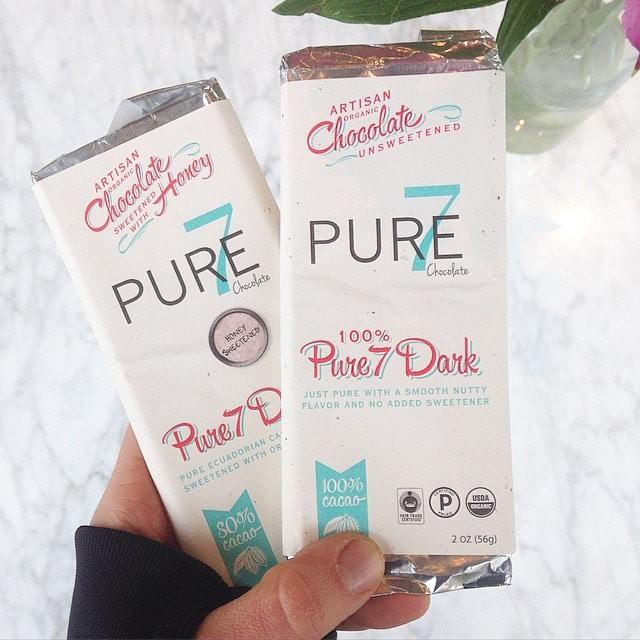 100% Pure chocolate cacao Honey Sweetened Chocolate from Pure7 Chocolate
