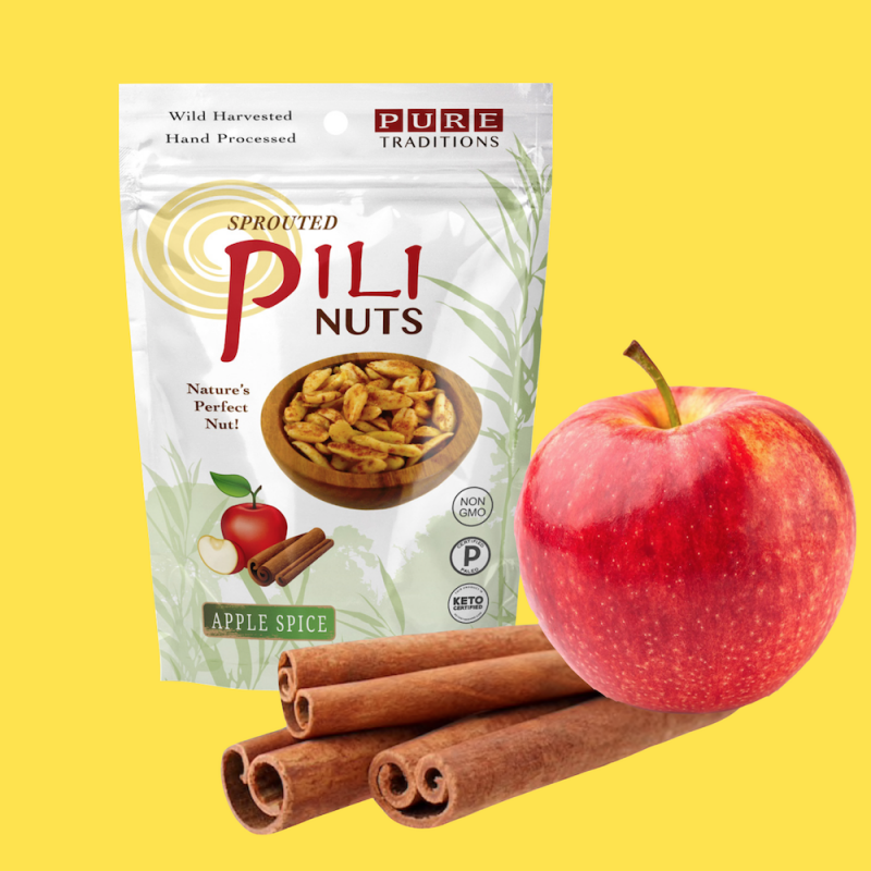 Apple Spice Pili Nuts - Pure Traditions - Certified Paleo, KETO Certified by the Paleo Foundation