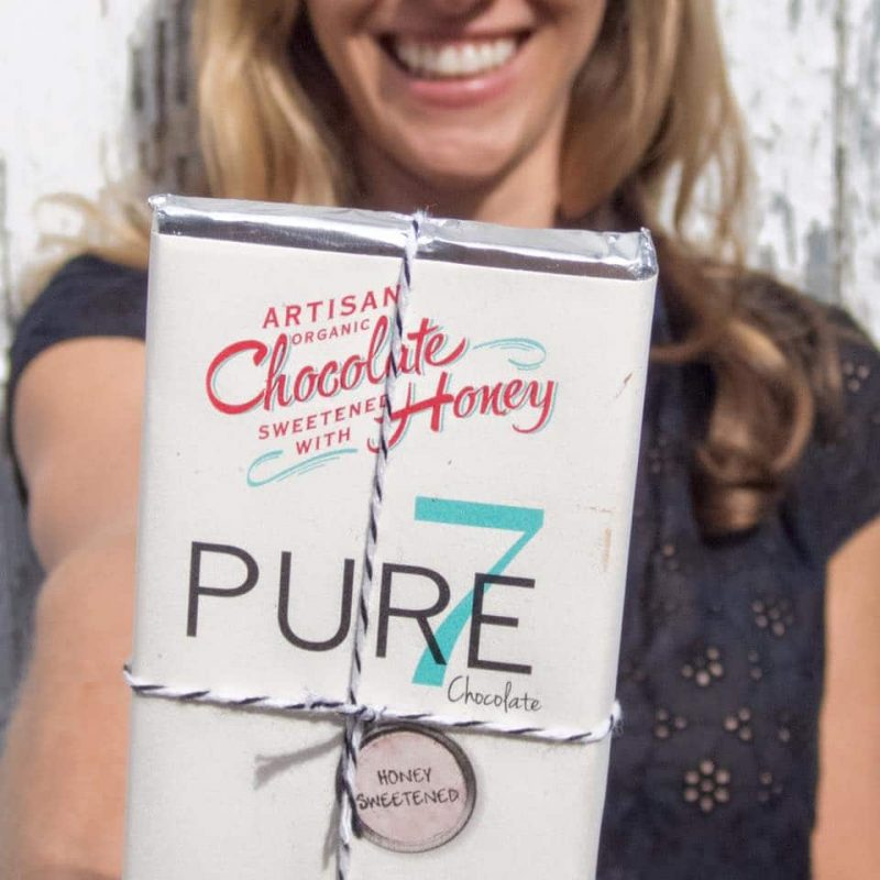 Artisan Organic Certified Paleo Honey Sweetened Chocolate from Pure7 Chocolate