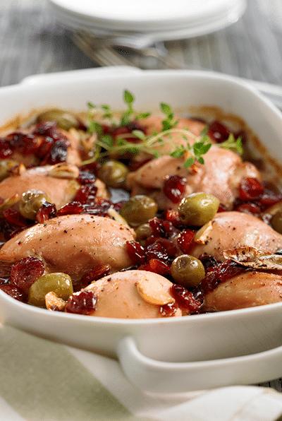 Atoka canneberges et Poulet Recipe