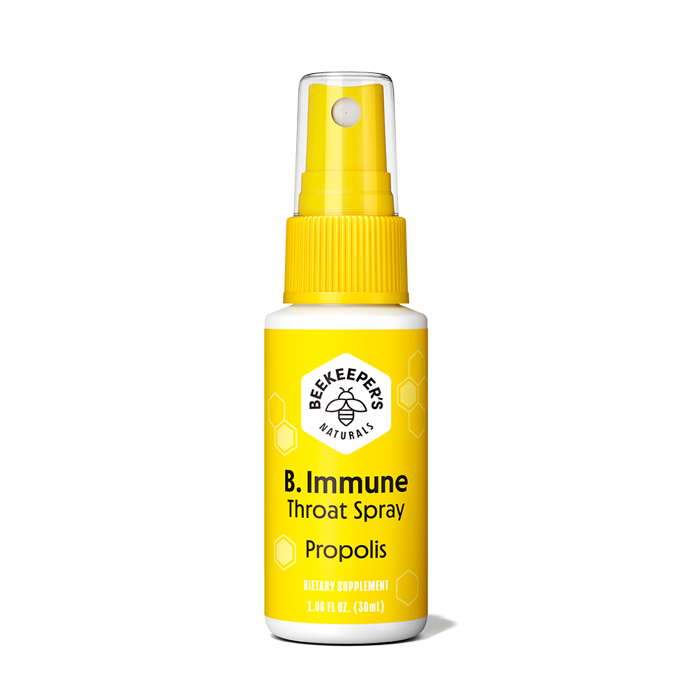 B Immune Throat Spray - Beekeeper's Naturals - Certified Paleo, Keto Certified by the Paleo Foundation