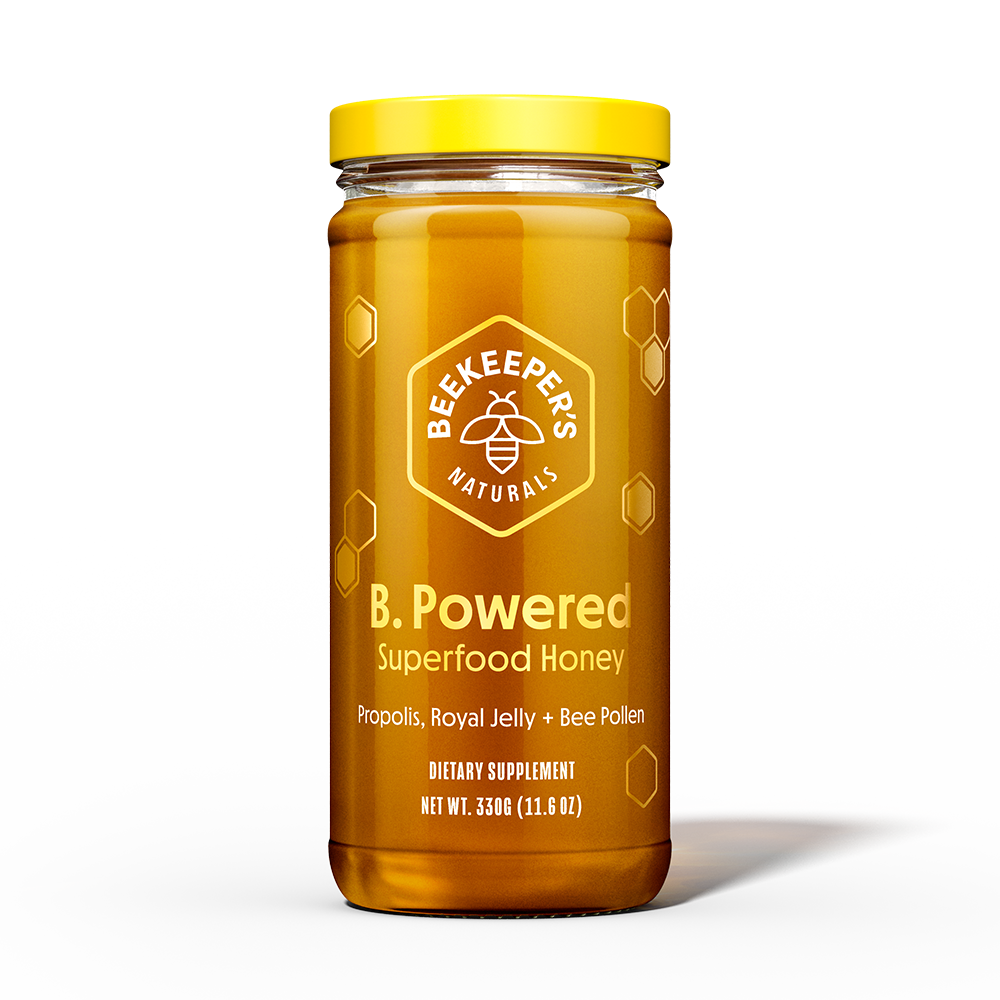 B Powered Superfood Honey - Beekeeper's Naturals - Certified Paleo, Keto Certified by the Paleo Foundation