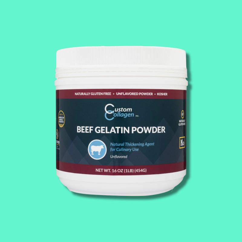 Beef Gelatin Powder 10 - Custom Collagen - Certified Paleo Friendly, Keto Certified by the Paleo Foundation