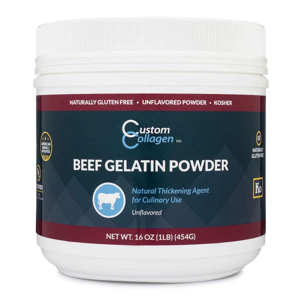 Beef Gelatin Powder - Custom Collagen - Certified Paleo Friendly, Keto Certified by the Paleo Foundation