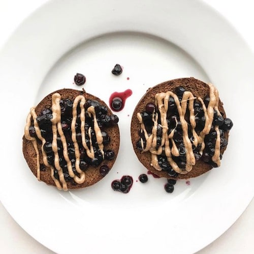 Blueberries & Almond Butter Drizzle - Barely Bread - Certified Paleo, KETO Certified - Paleo Foundation