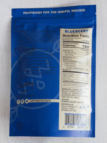 Blueberry Granola NI - Within:Without - Certified Paleo, Paleo Vegan - Paleo Foundation
