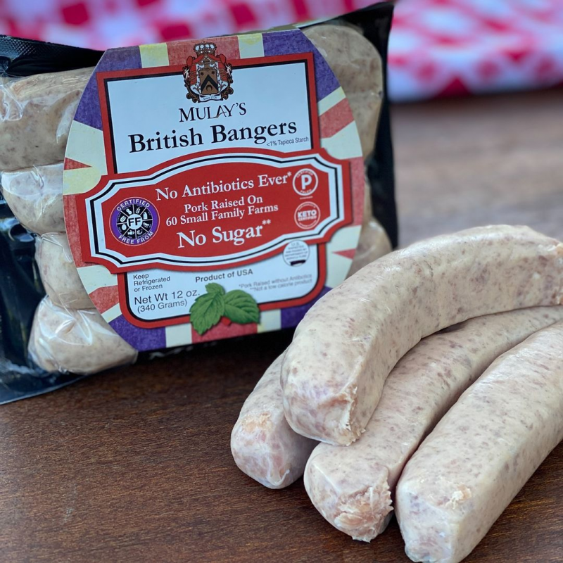 British Bangers Gallery - Mulay's Sausage - Certified Paleo Keto Certified by the Paleo Foundation