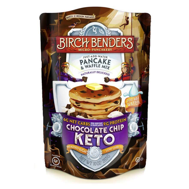 Chocolate Chip Keto Pancakes - Birch Benders - Keto Certified by the Paleo Foundation