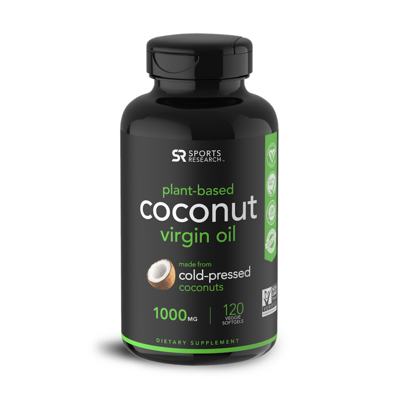 Coconut Oil Softgels - Sports Research - Certified Paleo, KETO Certified by the Paleo Foundation