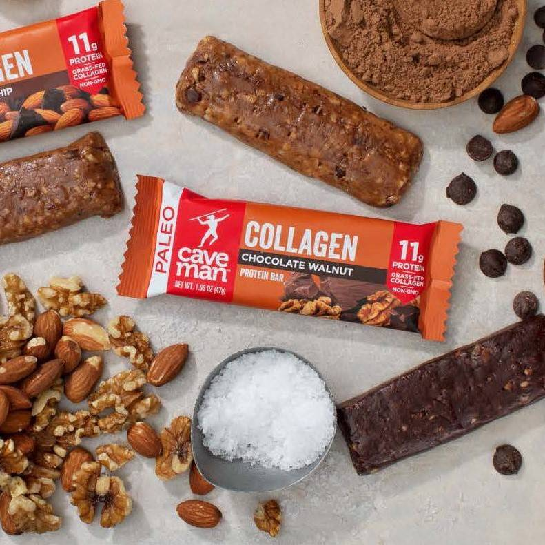 Collagen Bars 2 - Caveman Foods - Certified Paleo Friendly by the Paleo Foundation