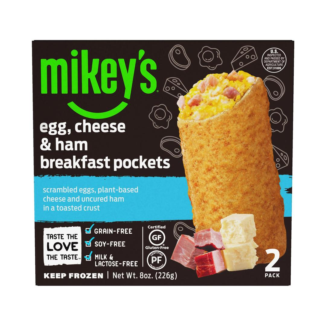 Egg, Cheese, & Ham Breakfast Pockets - Mikey's Muffins - Certified Paleo Friendly by the Paleo Foundation