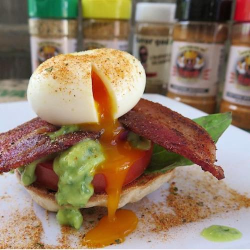 Eggs over Bacon Tomato - Flavor God - Certified Paleo - Paleo Foundation - paleo diet - paleo lifestyle - paleoaf