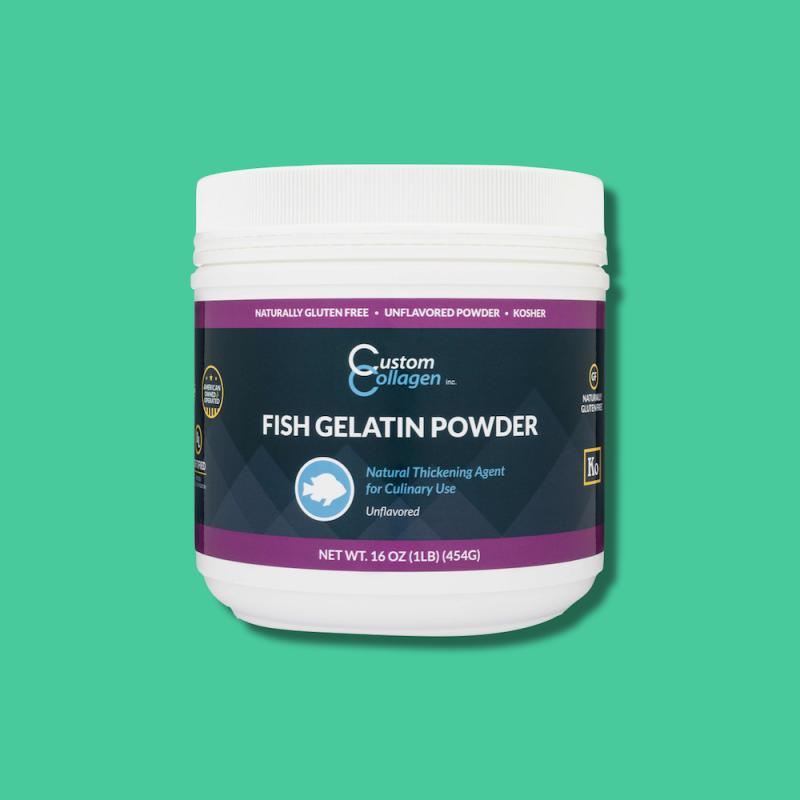 Fish Gelatin Powder - Custom Collagen 10 - Certified Paleo Friendly, Keto Certified by the Paleo Foundation