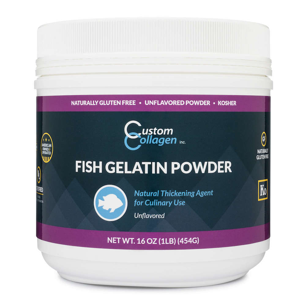 Fish Gelatin Powder - Custom Collagen - Certified Paleo Friendly, Keto Certified by the Paleo Foundation