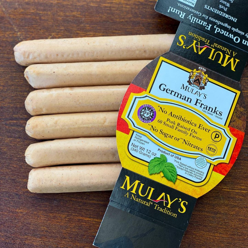 German Franks Gallery- Mulay's Sausage - Certified Paleo Keto Certified by the Paleo Foundation