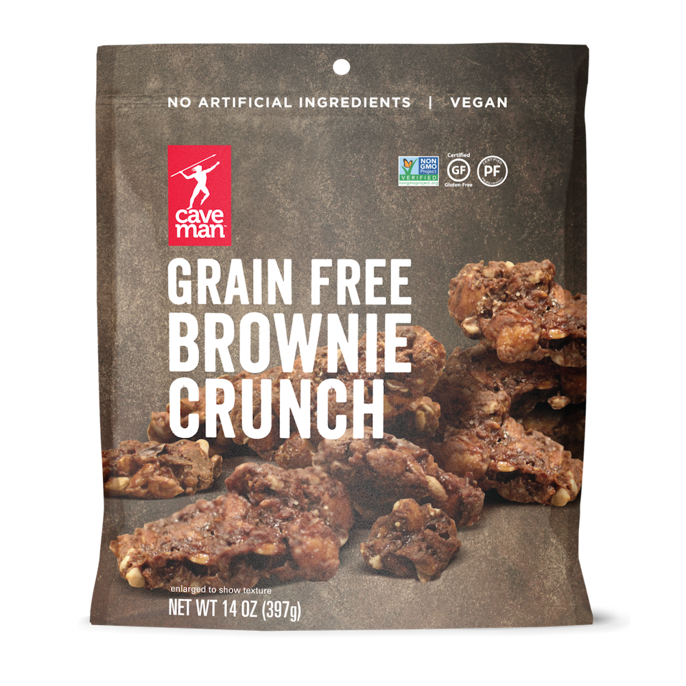 Grain Free Brownie Crunch - Caveman Foods - Certified Paleo Friendly by the Paleo Foundation