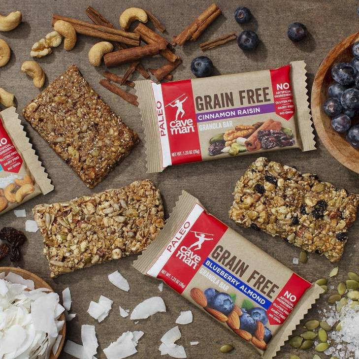 Grain Free Granola Bars - Caveman Foods - Certified Paleo Friendly by the Paleo Foundation