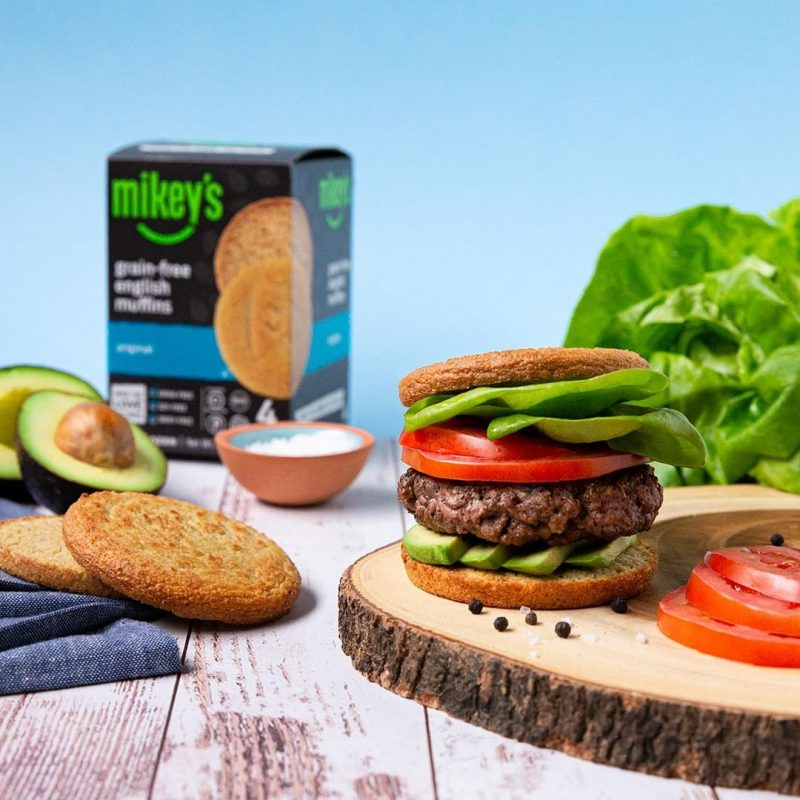 Grain-free English Muffins - Original - Burger 1 - Mikey's Muffins - Certified Paleo, Keto Certified by the Paleo Foundation