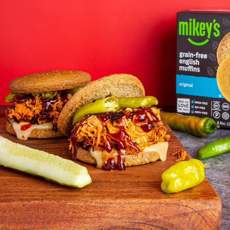 Grain-free English Muffins - Original - Pulled Pork 1 - Mikey's Muffins - Certified Paleo, Keto Certified by the Paleo Foundation