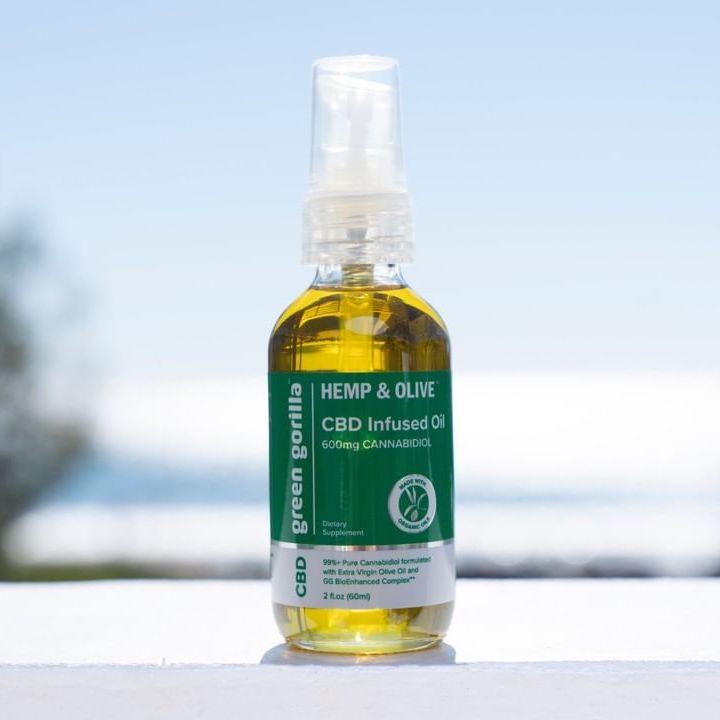 Hemp & Olive Organic Pure CBD Oil 3 - Green Gorilla - Certified Paleo by the Paleo Foundation