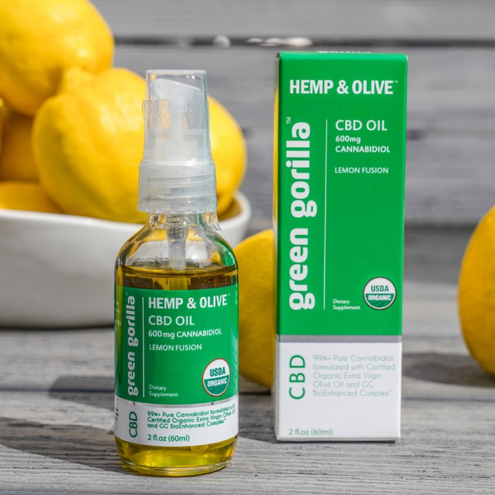 Hemp & Olive Organic Pure CBD Oil Lemon 2 - Green Gorilla - Certified Paleo by the Paleo Foundation