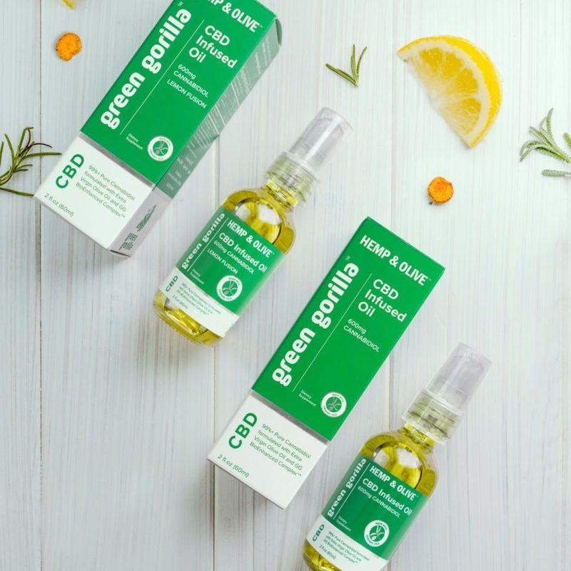 Hemp & Olive Organic Pure CBD Oil Lemon 3 - Green Gorilla - Certified Paleo by the Paleo Foundation