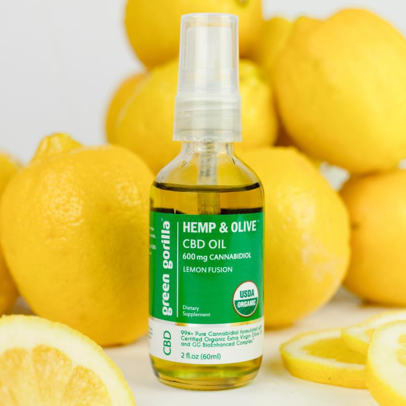 Hemp & Olive Organic Pure CBD Oil Lemon 4 - Green Gorilla - Certified Paleo by the Paleo Foundation