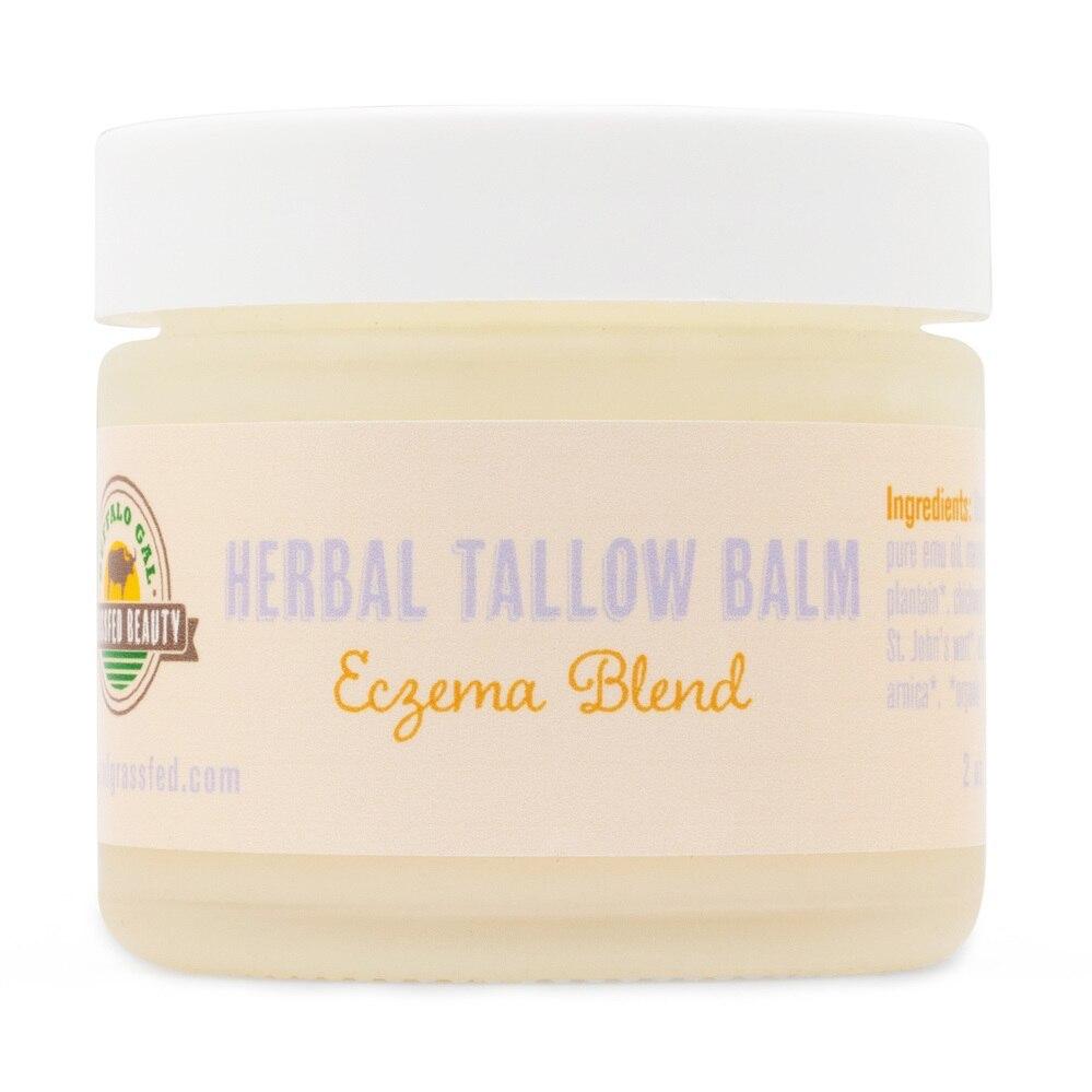 Herbal Tallow Balm - Eczema Blend - Buffalo Gal Grassfed Beauty - Certified Paleo by the Paleo Foundation