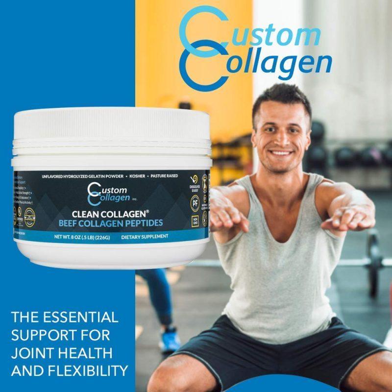 Hydrolyzed Gelatin 01 - Beef Collagen Peptides - Custom Collagen - Certified Paleo Friendly, Keto Certified by the Paleo Foundation