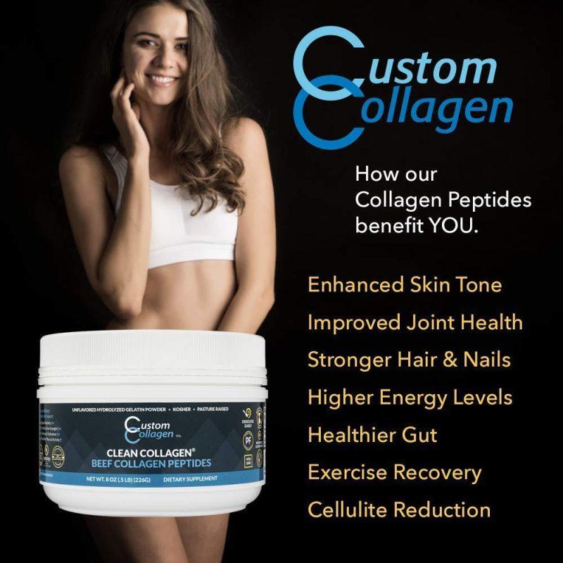Hydrolyzed Gelatin 04 - Beef Collagen Peptides - Custom Collagen - Certified Paleo Friendly, Keto Certified by the Paleo Foundation