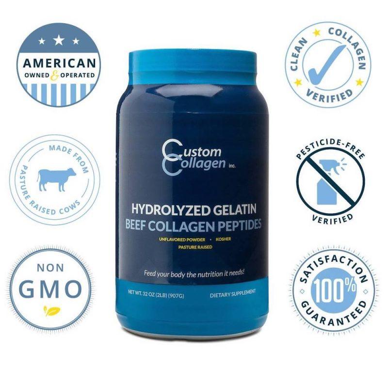 Hydrolyzed Gelatin 06 - Beef Collagen Peptides - Custom Collagen - Certified Paleo Friendly, Keto Certified by the Paleo Foundation