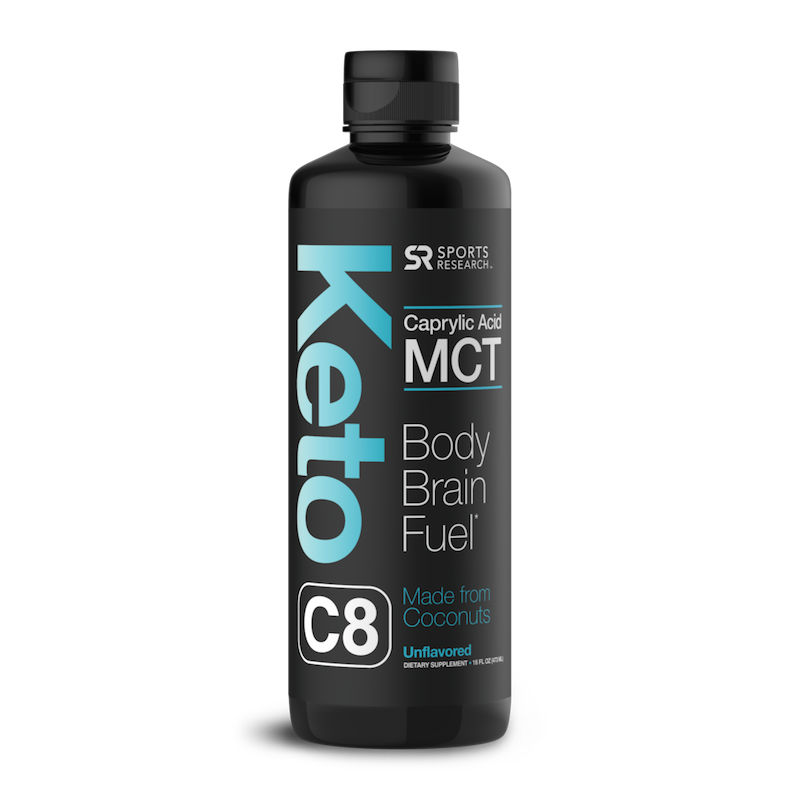Keto C8 MCT Oil - Chocolate - Sports Research - Certified Paleo Friendly, KETO Certified by the Paleo Foundation