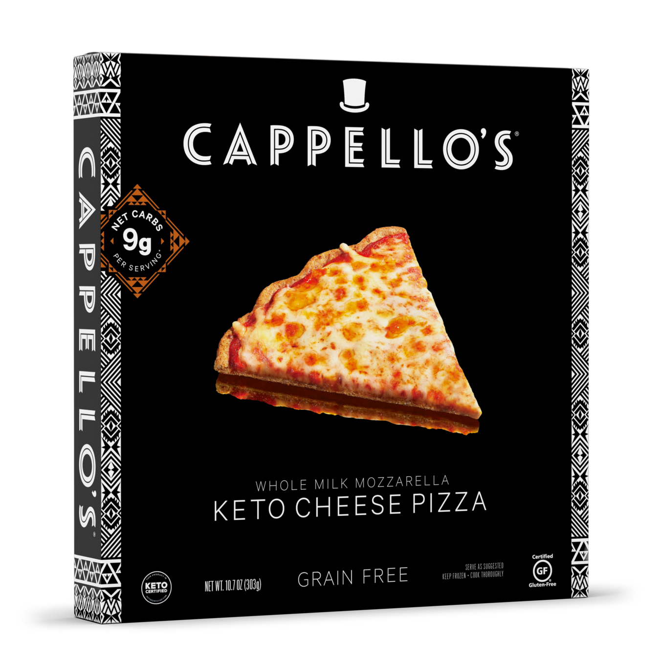 Keto Cheese Pizza - Cappellos - Certified Paleo, Paleo Friendly, Paleo Vegan, Keto Certified by the Paleo Foundation