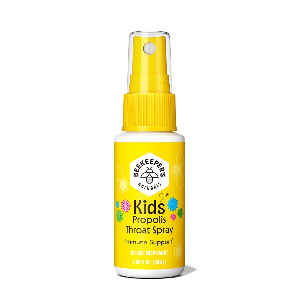 Kids Propolis Throat Spray - Beekeeper's Naturals - Certified Paleo, Keto Certified by the Paleo Foundation