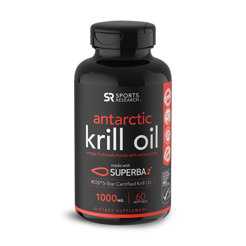 Krill Oil - Sports Research - Certified Paleo Friendly by the Paleo Foundation