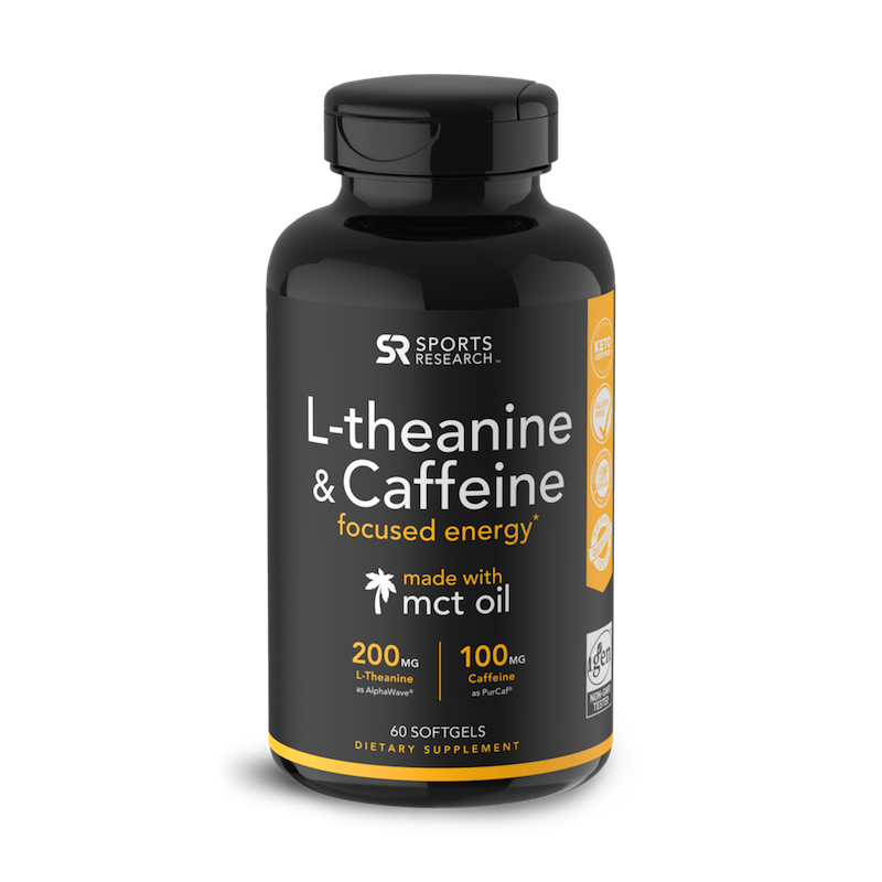 L Theanine & Caffeine - Sports Research - KETO Certified by the Paleo Foundation