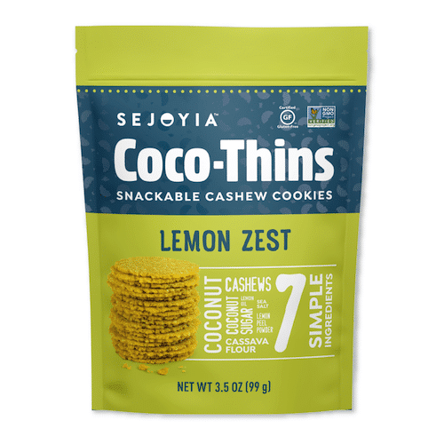 Lemon Zest Coco-Thins - Sejoyia - Certified Paleo, Paleo Vegan - Paleo Foundation