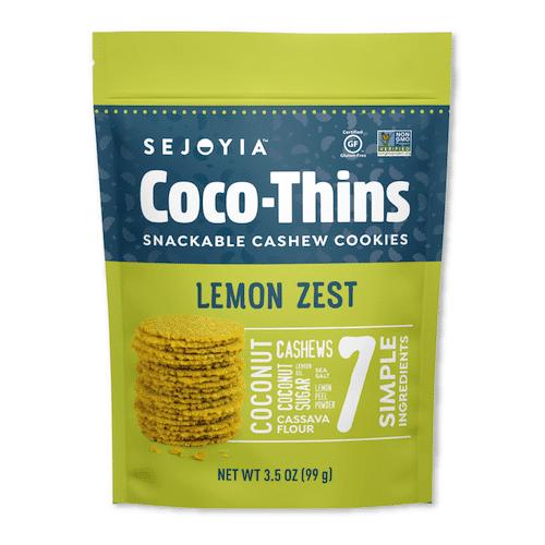 Lemon Zest Coco-Thins - Sejoyia - Certified Paleo, Paleo Vegan - Paleo Foundation