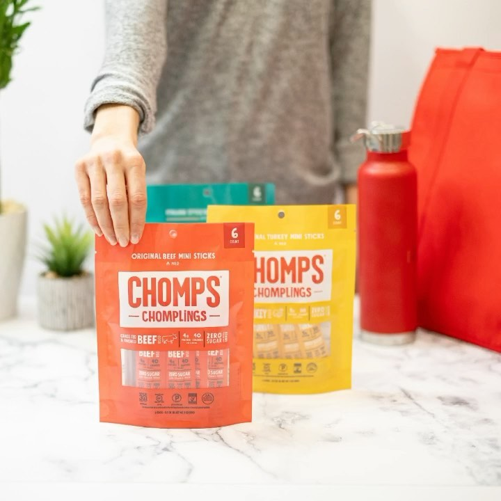 Lineup Chomplings - Chomps Snack Sticks - Certified Paleo, Keto Certified by the Paleo Foundation