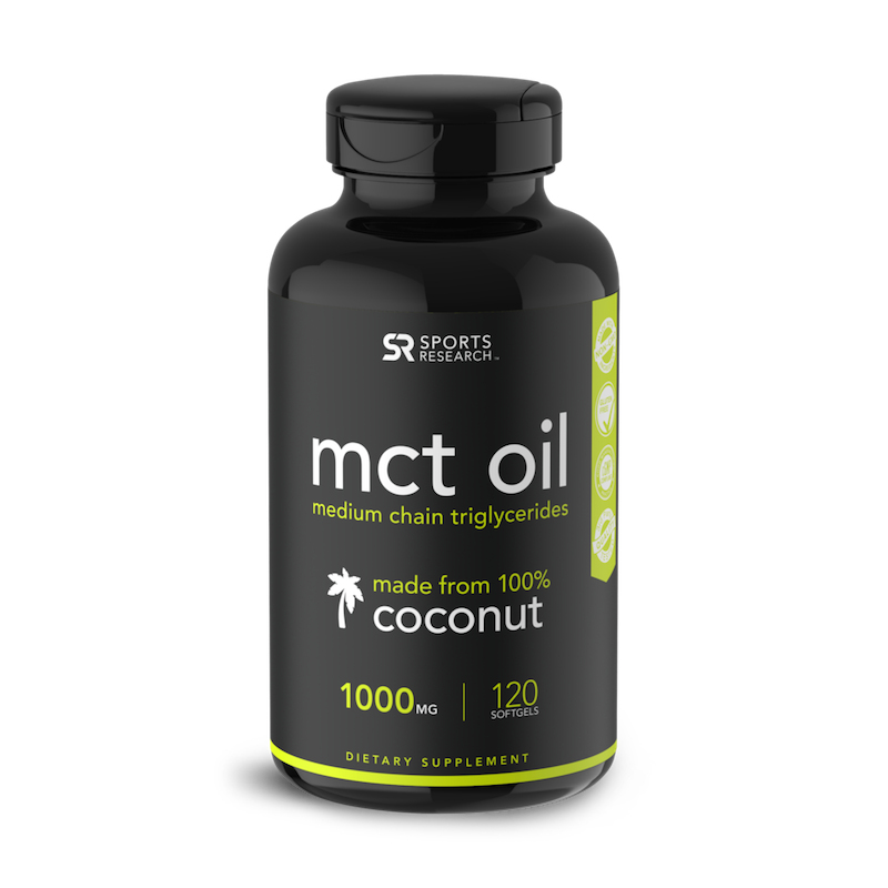 MCT Oil softgels - Sports Research - Certified Paleo Friendly by the Paleo Foundation