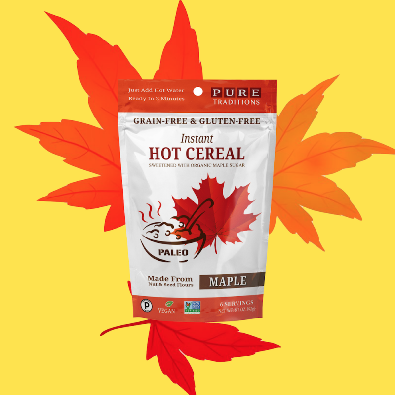 Maple Instant Hot Cereal - Pure Traditions - Certified Paleo by the Paleo Foundation